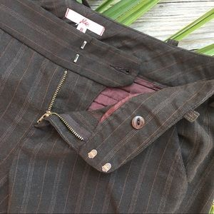 Joie Striped Brown Trousers